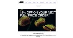 [LN-CC] Receive an Extra 15% off full price items with every sale purchase