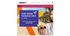 [Jetstar] Irresistible Club Jetstar Exclusive Sale fares to 10 destinations! Join the club today.