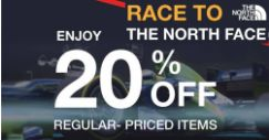 The North Face: Enjoy 20% OFF Storewide This Weekend!