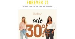 [FOREVER 21] Get 30% OFF Bottoms + Sweaters!!