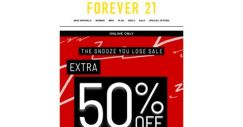 [FOREVER 21] DON'T HIT SNOOZE ON THIS SALE!