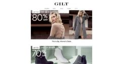 [Gilt] UP TO 80% OFF. It's the End-of-Month Sale.