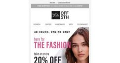 [Saks OFF 5th] Extra 20% OFF to be ready for the runway