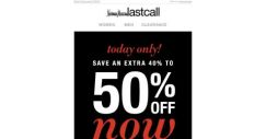 [Last Call] I'm sorry, did you say EXTRA 40%–50% off shoes? And handbags? AND JEWELRY?