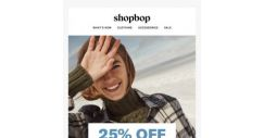 [Shopbop] 25% off winter essentials?! SNOW WAY!
