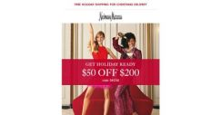 [Neiman Marcus] $50 off $200 + Triple Points (happening now!)
