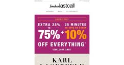[Last Call] Karl Lagerfeld Paris + extra 10% off on top of sale