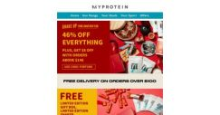 [MyProtein] 🎁 Enjoy These Free Limited Edition Gifts! 🎁