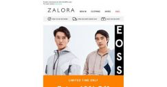 [Zalora] 💥 Ends 6PM: Extra 40% OFF!