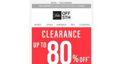 [Saks OFF 5th] The Monday perk-up you needed: up to 80% OFF clearance
