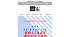 [Saks OFF 5th] Final call for 25% OFF whatever your heart deserves
