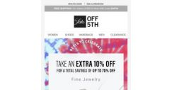 [Saks OFF 5th] Up to 70% OFF Diana M Jewels, Effy & more with an extra 10% OFF