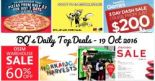 BQ's Daily Top Deals: Domino's Pizza Thin Crust Pizza at $7 Only, MILO Van at Westgate this Friday, FlyScoot 20% OFF with UOB Cards, Shiseido Sale 2016, Triple Three Hokkaido Harvests Buffet + 50% OFF 2nd Adult Diner with DBS/POSB Cards, Star Cruises 3 Day Dash Sale & OSIM Warehouse Sale!