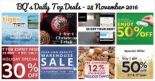 BQ's Daily Top Deals: 12% OFF Storewide at Precious Thots, Beureka Beauty Warehouse Sale, 50% OFF at Crocs, 30% OFF at Esprit, 1-for-1 Starbucks Christmas Drink, Tigerair Airfare Promotion & More!