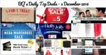BQ's Daily Top Deals: Free Gold Class Tickets with Purchase of POLICE Eyewear, ASOS 30% OFF Gifts, Starbucks 1-for-1 Xmas Drinks, Royal Sporting House Mega Sports Warehouse Sale, AirAsia Birthday Sale, 50% OFF GrabHitch Rides & More!