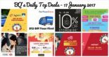 BQ's Daily Top Deals: $8 OFF Taxi Fare, 10% OFF at Isetan Supermarket, $12 OFF at NTUC FairPrice Online, $28 OFF at Honestbee, 1-for-1 Toast at Wang Cafe, Cathay Pacific Special Economy Fares with HSBC Cards & More!