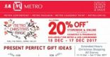 Metro: Enjoy 20% OFF Storewide & Online Including Cosmetics & Fragrances!
