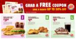 Burger King: Save Up to S$13.70 with These E-Coupons!