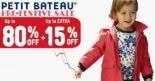 Petit Bateau: Pre-Festive Sale with Up to 80% OFF Babies, Kids, Ladies Apparels & Accessories!