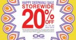 OG Singapore: Happy Deepavali 20% OFF Storewide on Most Brands' Regular-Priced Items!
