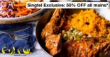 Fish & Co: 50% OFF All Mains All Day for Singtel Customers!