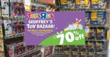 "Toys ""R"" Us: Geoffrey's Toy Bazaar is Back with Up to 70% OFF Toys from LEGO, Gundam, Star Wars & More!"