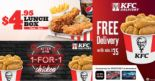 KFC: Limited Time Offers – $4.95 Lunch Box, 1-for-1 Chicken after 9pm & FREE Delivery with DBS/POSB Cards!