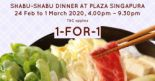 Suki-Ya: Enjoy 1-for-1 Buffet Dinner at Plaza Singapura!