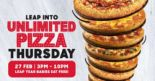 Pizza Hut: Unlimited Pizza Thursday – Leap Year Babies Eat FREE!