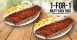 Morganfield's: Enjoy 1-for-1 Baby Back Ribs from Sunday to Thursday!