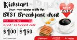 Kopitiam/Foodfare: Enjoy the Best Breakfast Deal at just $1.00/$1.50!