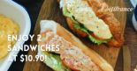 Delifrance: Enjoy Seafood D'sire or Egg D'vine Sandwiches at $10.90 for 2!