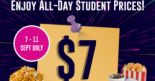 Cathay Cineplexes: Students Enjoy Special Ticket Prices All Day at Just $7 ($6 on Tuesday)!