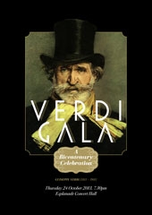Verdi Gala  A bicentenary celebration