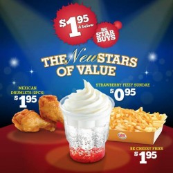 S$1.95 and below! The New Stars of Value at Burger King
