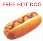 FREE Hot Dog! Offered by the IKEA Bistro / Exit Café