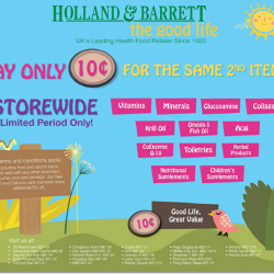 Pay only 10 cents for the same 2nd item! by Holland & Barrett