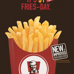 $1 Fries! Thicker Crispier and Tastier at KFC