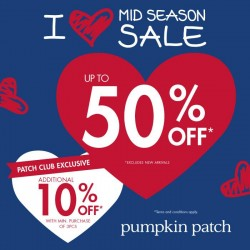 Up to 50% OFF! Mid Season Sale by Pumpkin Patch