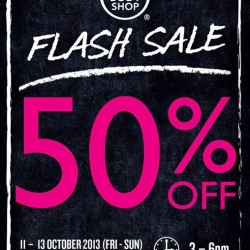 50% OFF and 1 for 1 Offers! Body Shop Flash Sale