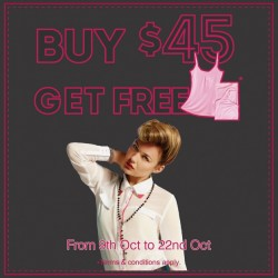 Free Camisole! when you spend S$ 45 at Cache Cache