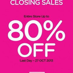 Up to 80% OFF! Closing Sale @Camomilla Milano Singapore