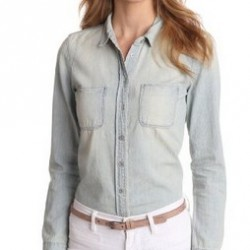 72% off! Calvin Klein Jeans Women's Denim Shirt offered at $16.43 by Amazon