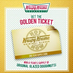 Free One Year Supply of Donuts! Be Krispy Kreme's 1st Customer!