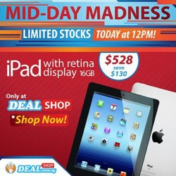 Only at S$528.00! iPad4 Flash Sale at Deal.com.sg