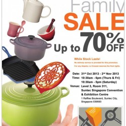 Up to 70% OFF! Le Creuset Family Sale 2013