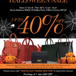 Up to 40% OFF! Halloween Sale at Reebonz