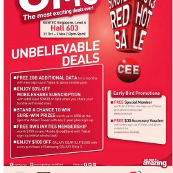 Singtel Crazy Promotions @Consumer Electronics Exhibition 2013
