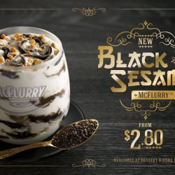 From S$2.8! NEW Black Sesame McFLURRY at McDonald's