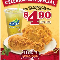 Only at S$4.9! 4th Anniversary Celebration Special at Popeyes